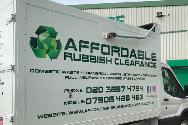 Affordable Rubbish Clearance van